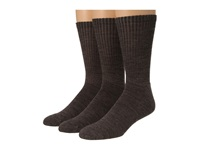 Smartwool Heathered Rib 3 Pair Pack Taupe Marl Men's Crew Cut Socks Shoes