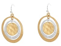 Robert Lee Morris Orbital Circle Drop Earrings Gold Silver Earring