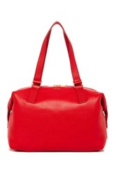 Fossil Preston Leather Satchel Red