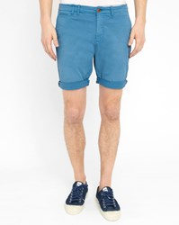 Scotch And Soda Blue Worker Washed Chino Bermuda Shorts