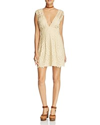 Free People One Million Lovers Lace Dress Ivory