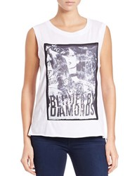 Guess Graphic Open Back Tee White
