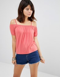 Only Louisa Cold Shoulder Top Faded Rose Pink
