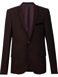 Lanvin Contrast Velvet Trim Blazer Pink And Purple