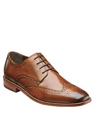 Florsheim Castellano Leather Wingtip Oxfords Saddle Tan