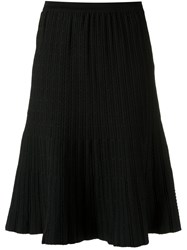 Egrey Knit Flared Skirt Black