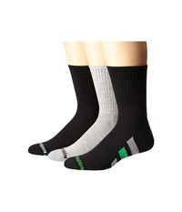 Steve Madden 3 Pack Athletic Crew With Arch Support And 1 2 Cushion Black Heather Grey Green Men's Crew Cut Socks Shoes