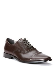 Calvin Klein Nino Leather Oxfords Dark Brown