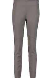 Brunello Cucinelli Stretch Wool Blend Skinny Pants Gray