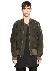 Unravel Destroyed Camouflage Bomber Jacket