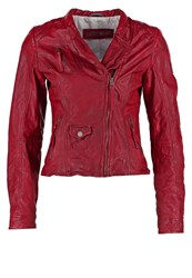 Freaky Nation Chopper Leather Jacket Apple Red