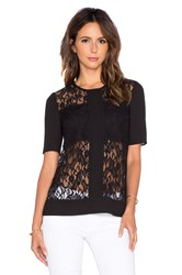 Bcbgeneration Lace Tee Black