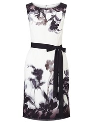 Jacques Vert Petite Shadow Floral Dress Multi Coloured