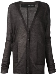 Isabel Benenato V Neck Cardigan Grey