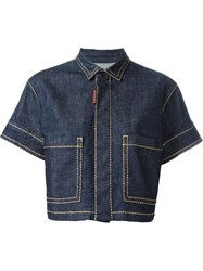 Dsquared2 Short Sleeve Denim Jacket Blue