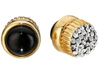 Marc By Marc Jacobs Pave Cabochon Magnetic Stud Earrings Black Multi Earring