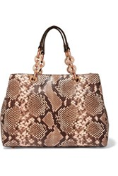Michael Michael Kors Cynthia Medium Snake Print Leather Tote Snake Print
