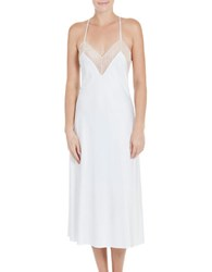 In Bloom Scalloped Neck Midi Gown White