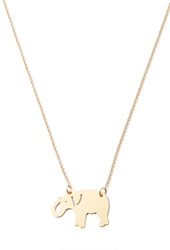 Forever 21 Matte Elephant Charm Necklace Matte Gold