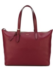 Smythson 'Burlington' Tote Red