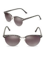 Sam Edelman 55Mm Round Sunglasses Silver