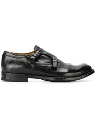 Officine Creative 'Anatomia' Rugged Monk Shoes Black