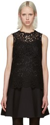 Dolce And Gabbana Black Lace Tank Top