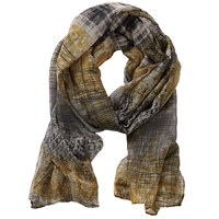 Betty Barclay Long Printed Scarf Grey Yellow