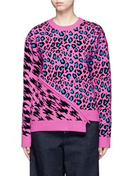 Opening Ceremony X Syd Mead Leopard Print Zip Sweater Multi Colour