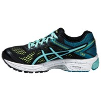 Asics Gt 1000 4 Women's Structured Running Shoes Black Blue