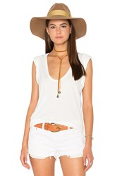 Craft And Commerce Roll Sleeve V Tee Ivory
