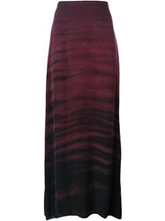 Raquel Allegra Haze Print Maxi Skirt Pink And Purple