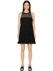 Diesel Black Gold Macrame And Viscose Twill Dress