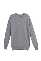 John Smedley Textured Pullover Silver