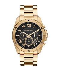 Michael Kors Brecken Goldtone Stainless Steel Bracelet Watch Gold Black