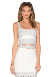 Lolitta Scallop Crop Top Metallic Silver