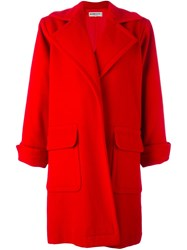 Yves Saint Laurent Vintage Open Front Coat Red