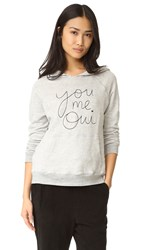 Sundry You Me Oui Hoodie Heather Grey