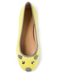 Marc By Marc Jacobs Mouse Ballerinas Yellow And Orange