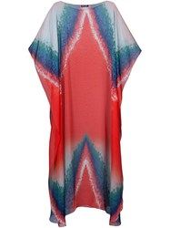 Baja East Long Kaftan Red