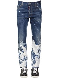 Dsquared 16.5Cm Star Printed Stretch Jeans