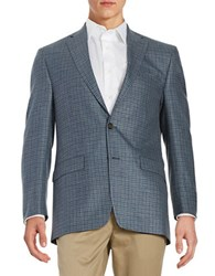 Lauren Ralph Lauren Checkered Wool Sportcoat Blue