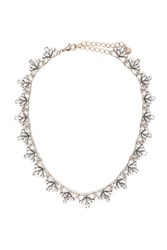 Forever 21 Rhinestone Statement Necklace Antique Gold Clear