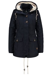 Ragwear Jane Parka Navy Mottled Dark Blue