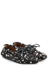 Etoile Isabel Marant Printed Pony Hair Loafers Black
