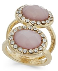 Inc International Concepts Gold Tone Double Pink Stone And Crystal Ring Only At Macy's