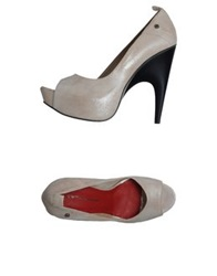 Cnc Costume National C'n'c' Costume National Pumps With Open Toe Beige