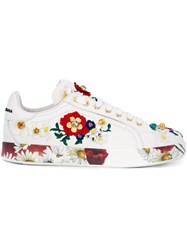 Dolce And Gabbana Embellished Sneakers White