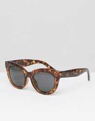 Cheap Monday Oversized Cat Eye Sunglasses In Tortoise Soft Brown Turtle