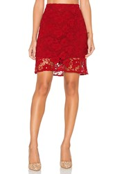 Sanctuary Hand Craft Skirt Red